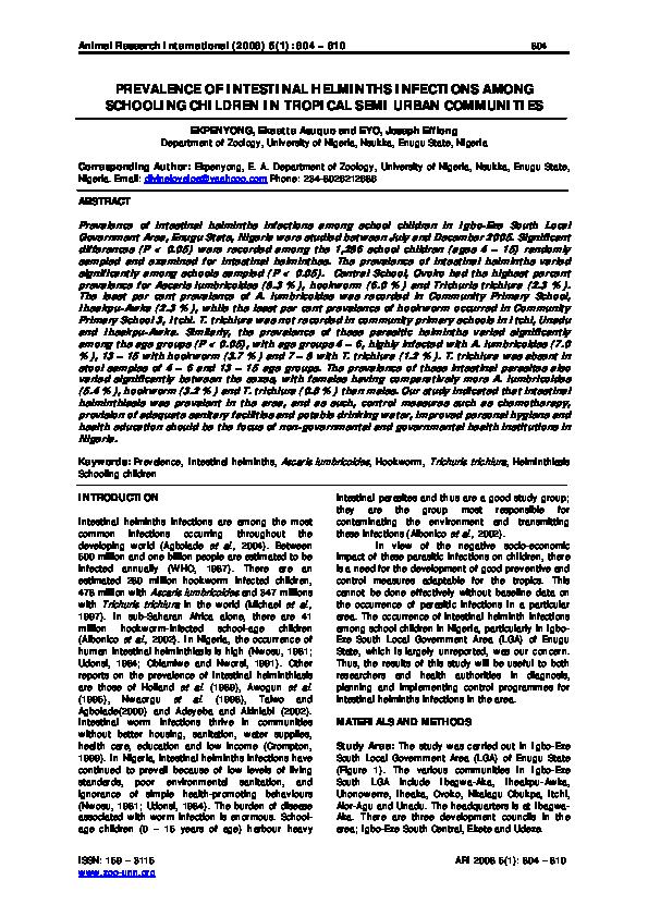 szemi helminthiasis