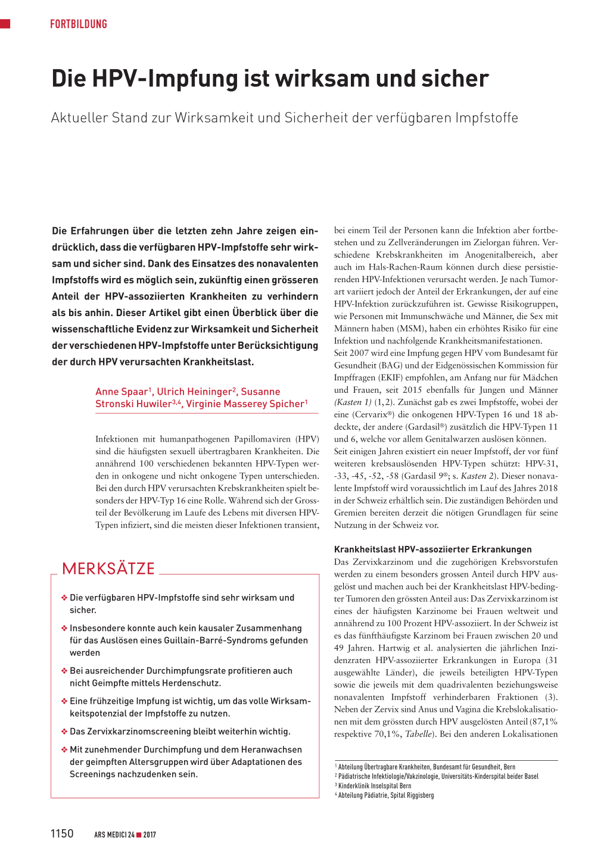 hpv impfung schweiz)