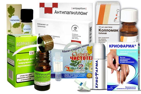 a keratomák és a papillómák megszüntetik a fűszereket)