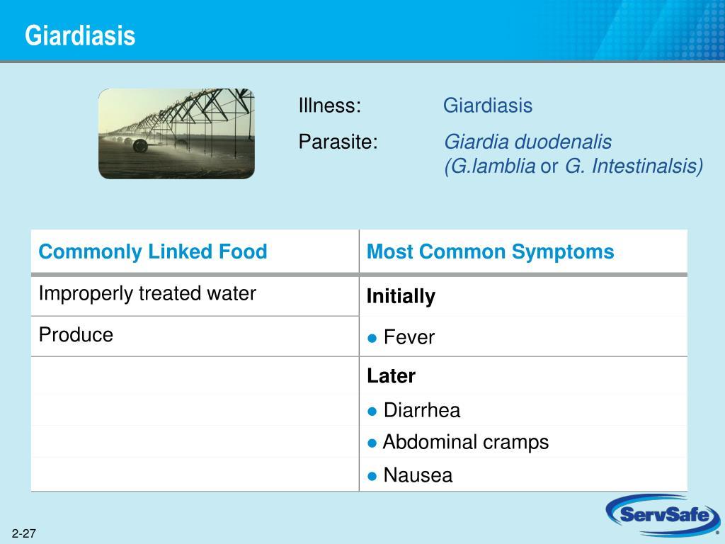 Giardia duodenalis servsafe Giardiasis tünetei és kezelése