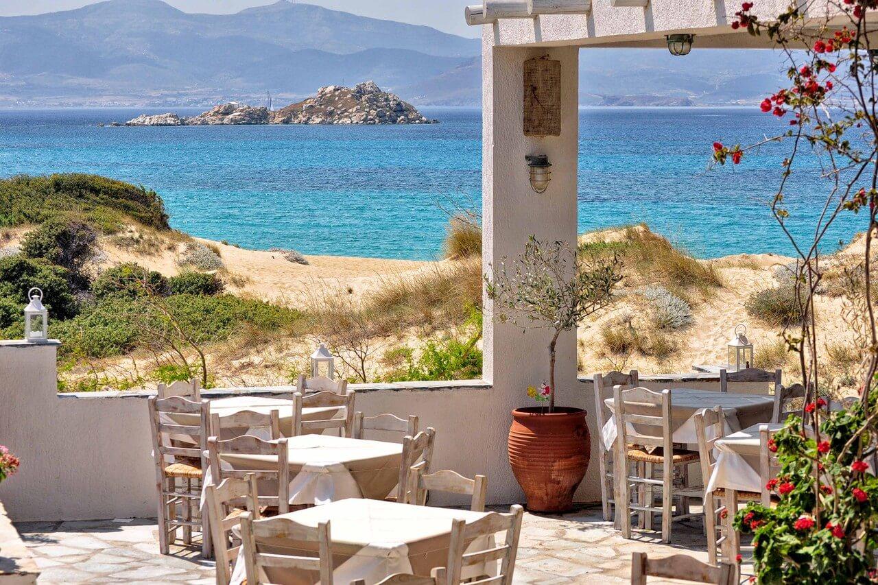 naxos kertek étterem a tengeren