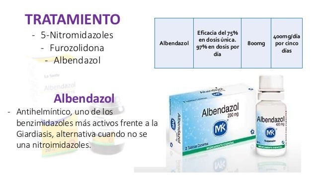 albendazol giardia dózis)