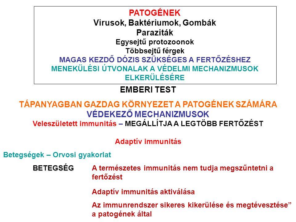 a parazitákon keresztüli immunválasz elkerülése)